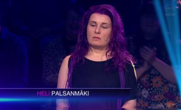 Tällaiselta näytti Pirjo Heikkilän esittämä Heli Palsanmäki.