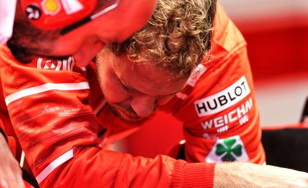Sebastian Vettel jäi tylysti kolmanneksi Monzassa.