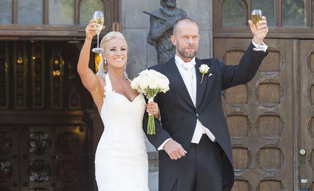 Jere ja Nanna Karalahti menivät naimisiin elokuussa 2015.