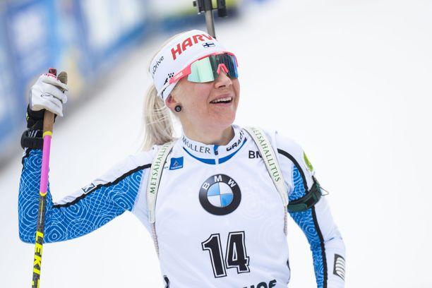 –Yllättävän herkkä hetki, kuvaili Kaisa Mäkäräinen.