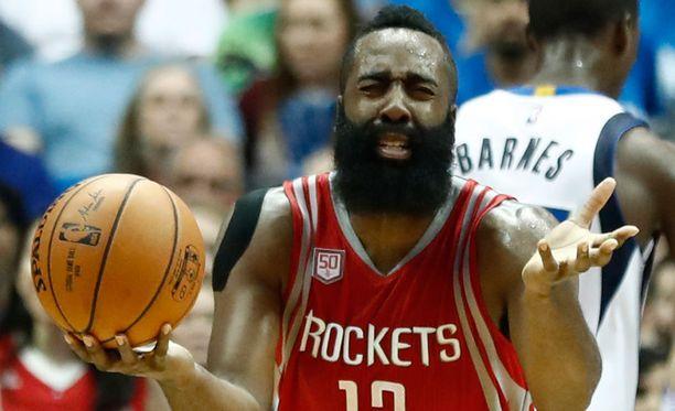 James Harden on Rocketsin persoonallinen tähti.