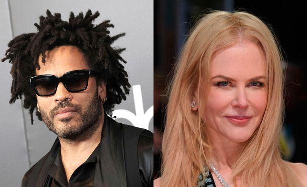 Nicole Kidman ja Lenny Kravitz vaihtoivat kihloja vuonna 2003.