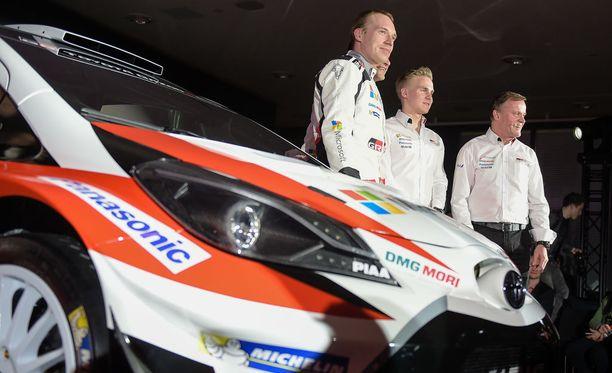 Tommi Mäkinen teki suomalaiset valinnat. Toyotan kuljettajina toimivat Jari-Matti Latvala, Juho Hänninen ja Esapekka Lappi.
