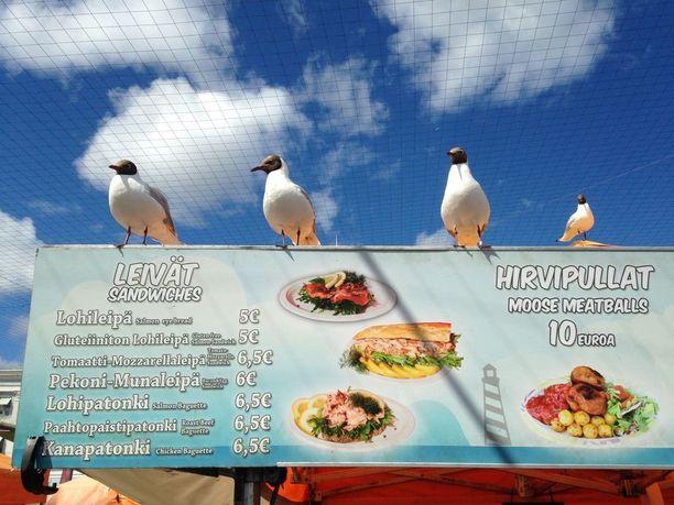 Linnut aiheuttavat riesaa muun muassa toreilla ruokaileville ihmisille. Linnut voivat levittää muun muassa salmonellaa, mutta riskin ei pitäisi olla suuri.