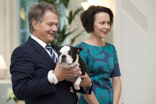 Sauli Niinistön ja hänen puolisonsa Jenni Haukion Lennu-koira on rodultaan bostoninterrieri.