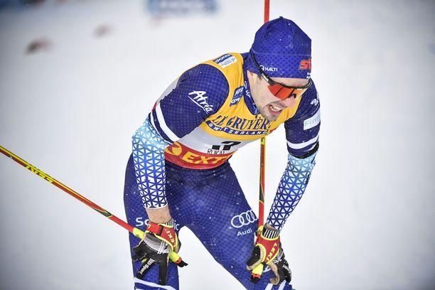 Ristomatti Hakolan sprinttikisa Rukalla meni pipariksi. Punainen lähtövalo oli ikävä.