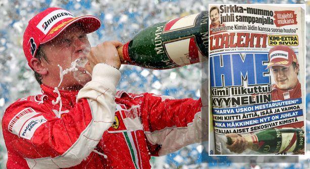 Räikkösen mestaruus oli suuri yllätys, josta otettiin Suomessa kaikki irti.
