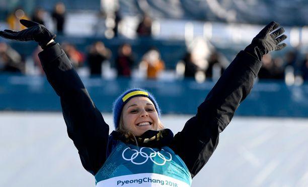 Stina Nilsson sai pronssia, vaikka luuli sijoittuneensa neljänneksi.