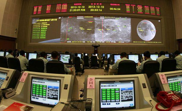 Chang'e 3 kuuluotaimen etenemistä valvotaan Pekingissä.