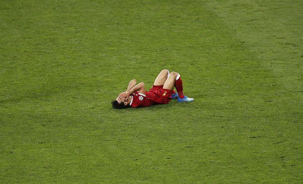 Mohamed Salahin finaaliottelu päättyi liian aikaisin.