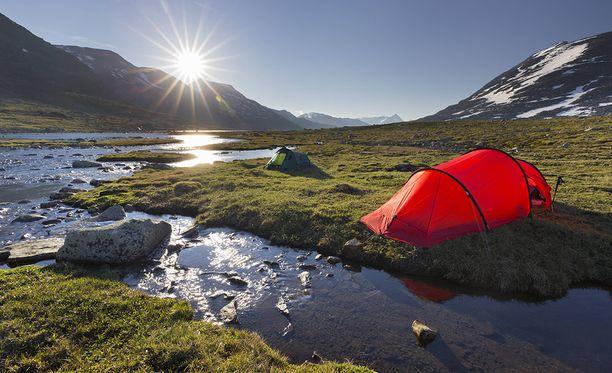 Jotunheimen on yksi Norjan kauneimmista kohteista. Siellä saa telttailla melko vapaasti.