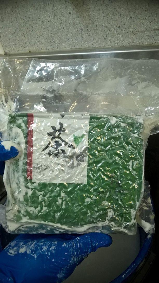 Metamfetamiini oli pakattu vakuumipusseihin.