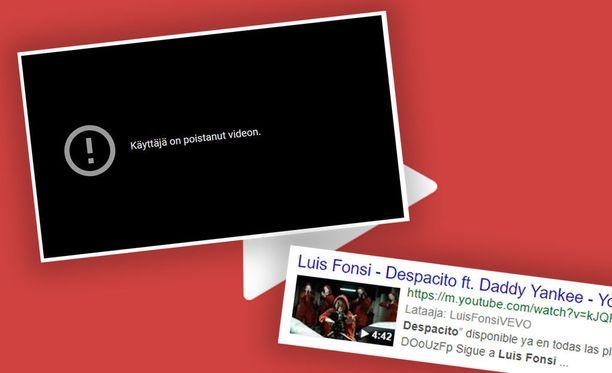 Despacito-musiikkivideo poistettiin Youtubesta.