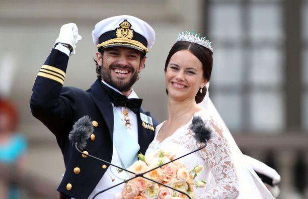 Ruotsin prinssi Carl Philipin ja prinsessa Sofian häistä tulee lauantaina kuluneeksi viisi vuotta.