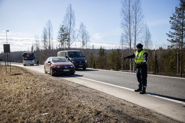 Uudenmaan rajavalvonta alkoi 28.3.2020.