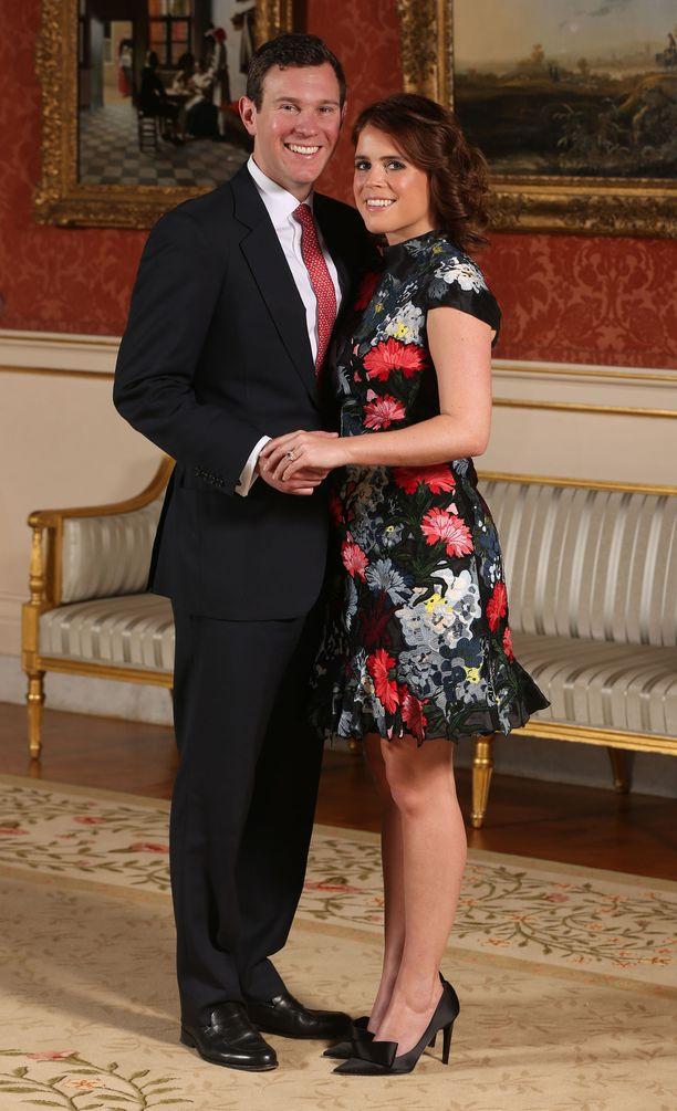 Prinsessa Eugenie on kuningattaren nuoremman pojan, prinssi Andrew'n tytär. Kuvassa tulevat morsian ja sulhanen.