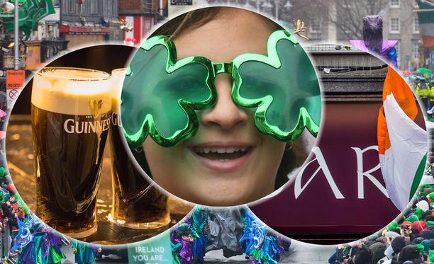 Pyhän Patrickin päivä on iso juhla Irlannin lisäksi muualla maailmassa. Hassuja hattuja ja vihreitä vaatteita näkyy juhlapäivänä myös Helsingissä, eikä tarvitse olla irlantilainen kumotakseen yhden Guinnessin päivän kunniaksi.