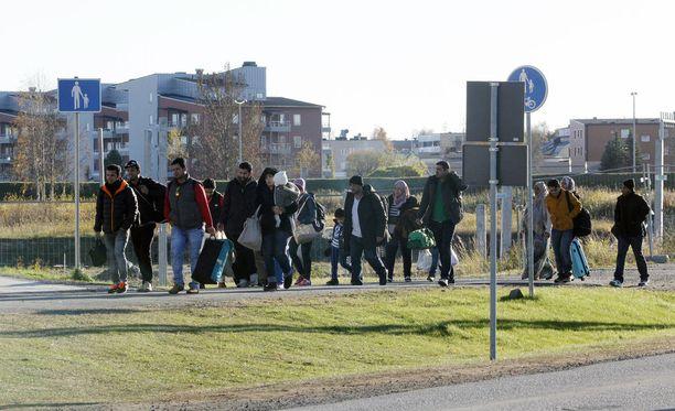 Suomeen saapui vuonna 2015 tuhansia turvapaikanhakijoita.