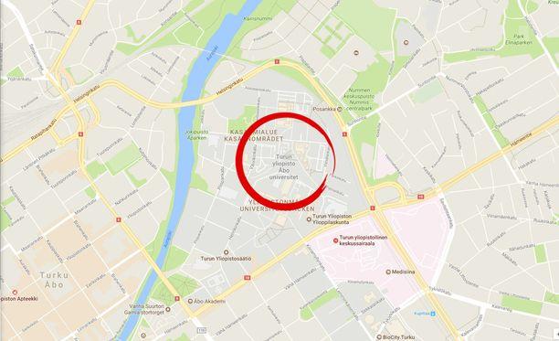 Epäily veitsimiehestä aiheutti poliisioperaation Turun yliopiston alueella.
