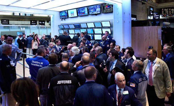 Näkymä pörssistä.