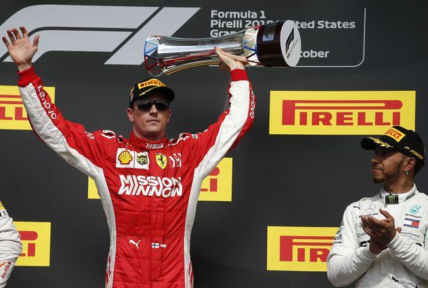 Kimi Räikkönen palasi voittajaksi yli 2000 päivän tauon jälkeen.