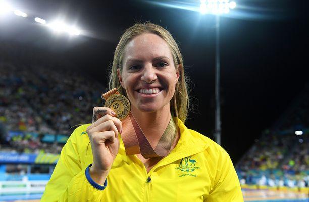 Emily Seebohm on voittanut urallaan useita arvokisamitaleja. Kuva vuodelta 2018.