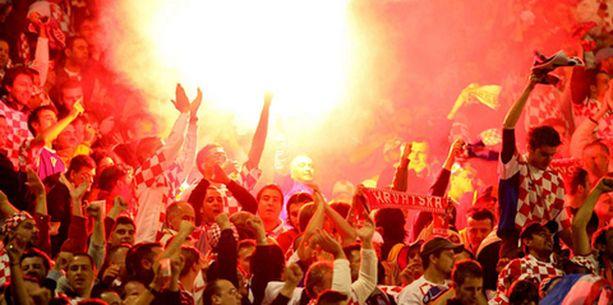 Kroatian kannattajat ottivat ilon irti voitosta.