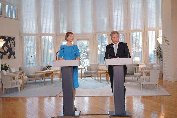 Viron presidentti Kersti Kaljulaid teki Suomeen valtiovierailun lokakuussa 2016.