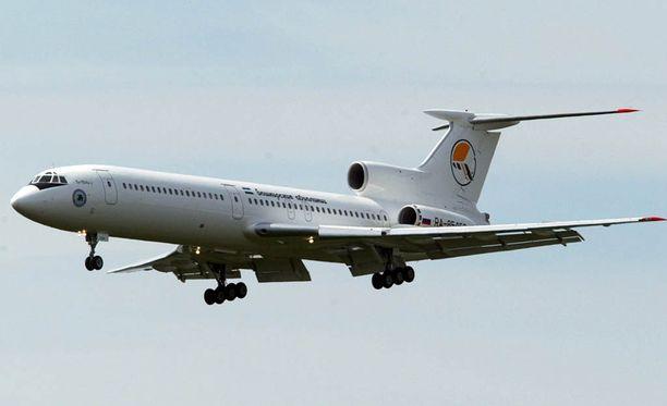 Maahan syöksynyt kone oli Tupolev Tu-154 -mallinen. Arkistokuva.
