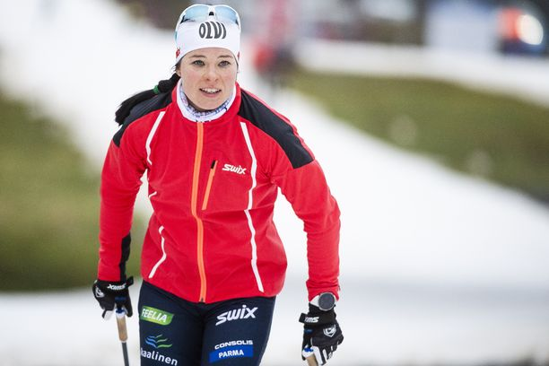 Krista Pärmäkoski on viihtynyt treeniladuilla.