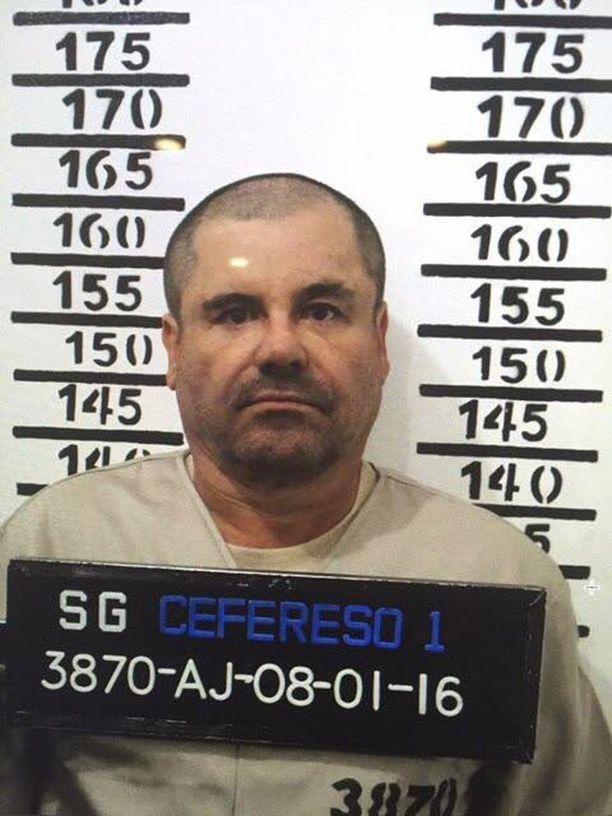 """Joaquin """"El Chapo"""" Guzman joutui pakonsa jälkeen takaisin vankilaan tammikuussa."""