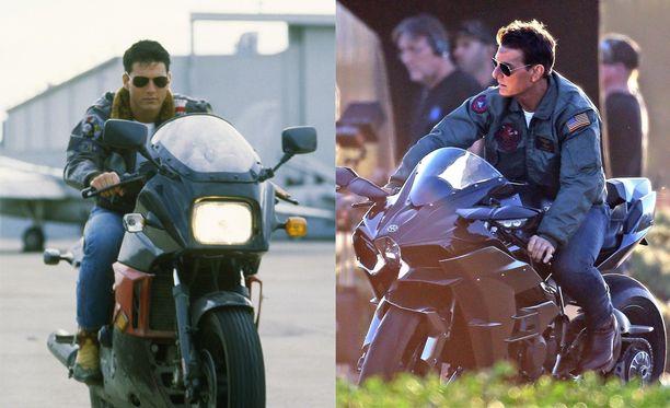 Vasemmalla Tom Cruise vuosimallia 1986, oikealla tällä viikolla.