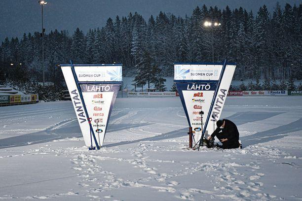 Vantaan hiihdon Suomen cup on kilpailtu Etelä-Suomen vinkkelistä katsottuna poikkeuksellisessä säässä.