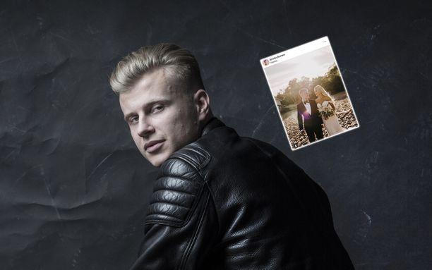 Jens Kyllönen vihittiin Hangossa Nora-vaimonsa kanssa.