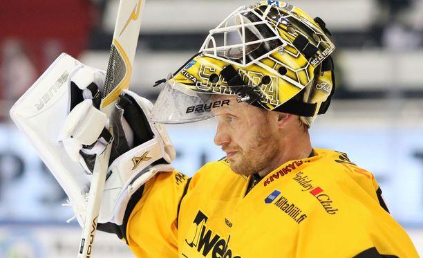 Jussi Markkanen pelasi viimeisen SM-liigan runkosarjamatsinsa Lappeenrannassa.