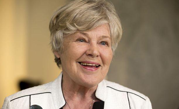 Entinen puolustusministeri Elisabeth Rehn. Kuva vuodelta 2015.