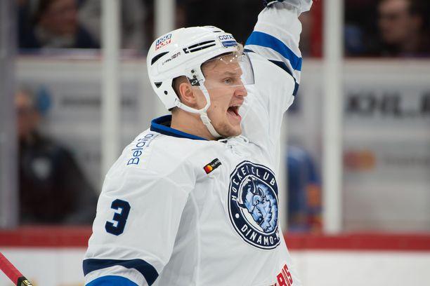 Dinamo Minskin suomalaistykki Teemu Pulkkinen on tehnyt jo neljä maalia.