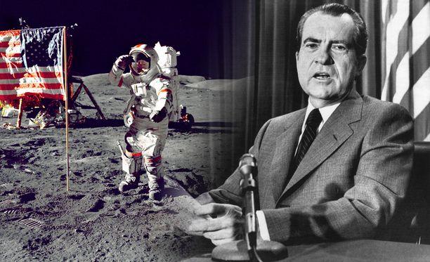Apollo 11 laskeutui onnistuneesti kuuhun 20. heinäkuuta 1969. Kuvituskuva.