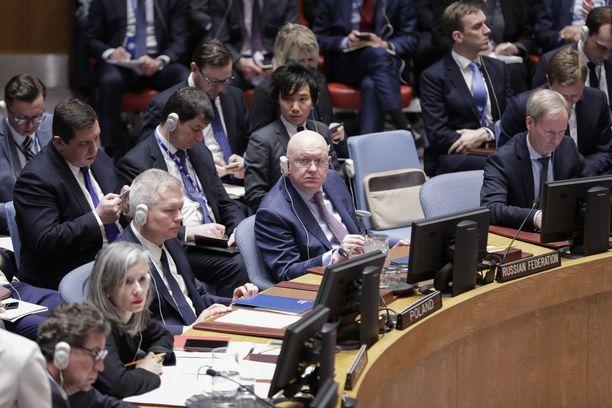 Vasili Nebenzia on Venäjän ykkösdiplomaatti YK:ssa.
