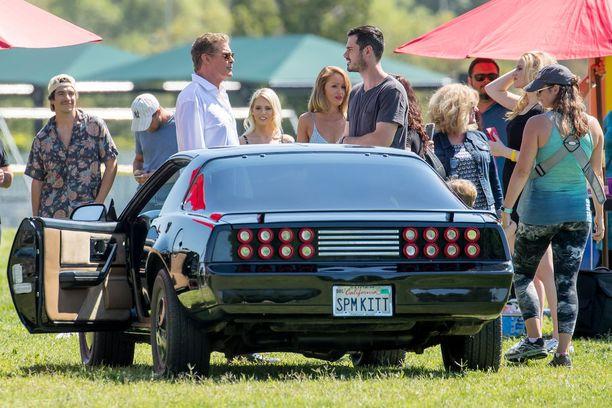 David Hasselhoff ajoi KITT-autolla maaliskuussa Los Angelesissa.