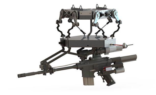 Massiivinen vakain takaa sen, että aseella voi tähdätä ja ampua heti uudestaan.