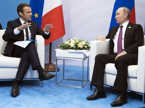 Ranskan ja Venäjän presidentit tapasivat Hampurin G20-kokouksessa heinäkuun alussa.