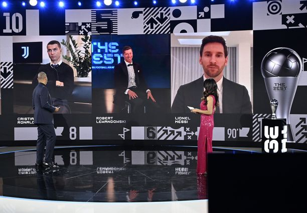 kansainvälisen jalkapalloliiton palkintogaala järjestettiin virtuaalisesti.