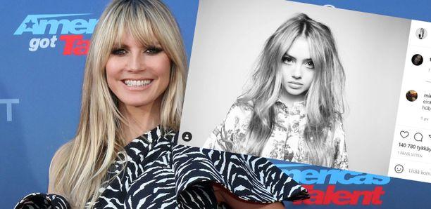 Heidi Klumin 16-vuotias Leni-tytär luo uraa mallina.