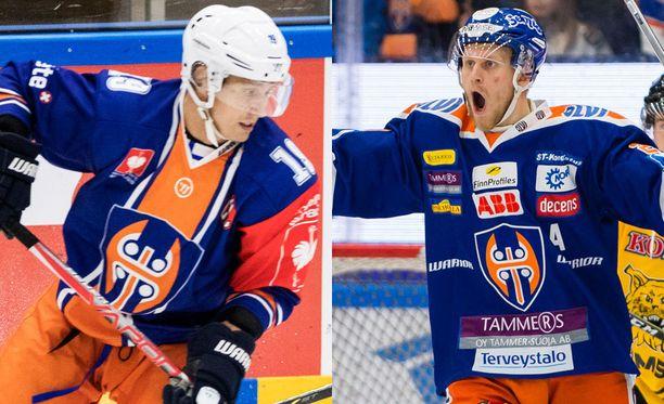 CHL-Tappara (Veli-Matti Savinainen) ja Liiga-Tappara (Jani Lajunen).
