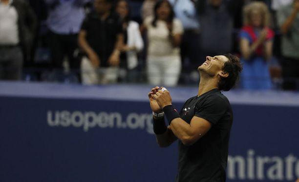 Rafael Nadal voitti US Openin New Yorkissa.