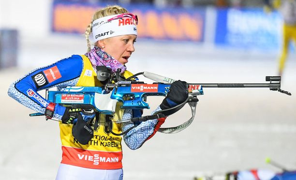 Kaisa Mäkäräinen ampui kaksi ohilaukausta.