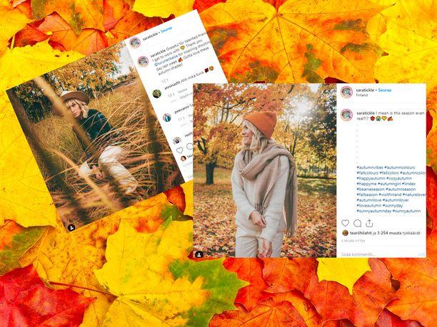 Saraa seuraa Instagramissa yli 45 000 ihmistä.