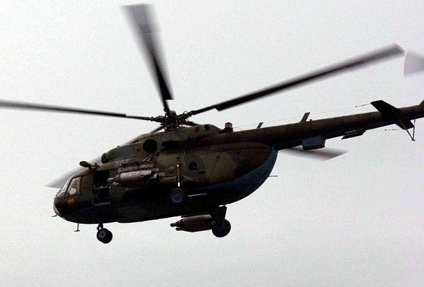 Viro väittää Mi-8-helikopterin loukanneen sen ilmatilaa. Kuvituskuva.