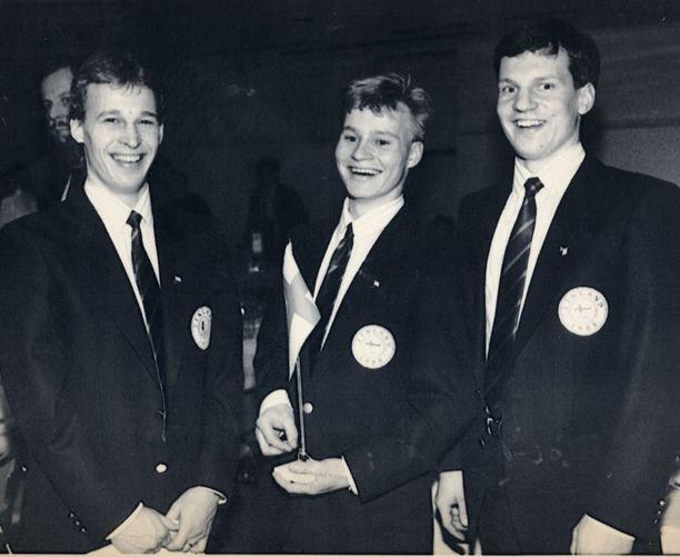 Jarmo Myllys-Sakari Lindfors-Jukka Tammi oli Calgaryn olympiakisojen nuori vahtitrio.